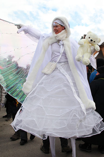 white fairy with a big and beautifull dress