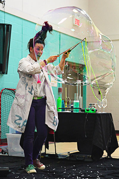 bubble science show for school